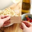 Lisa Angel Laser Engraved Personalised Wooden Ticket Stub Token