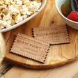 Lisa Angel Personalised Wooden Ticket Stub Token