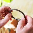 Lisa Angel Men's Personalised Antiqued Leather Bracelet