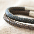 Lisa Angel Men's Engraved Personalised Antiqued Leather Bracelet