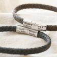 Lisa Angel Men's Personalised Antiqued Woven Leather Bracelet