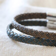 Lisa Angel Men's Rustic Personalised Antiqued Woven Leather Bracelet