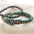 Lisa Angel Men's Personalised Semi-Precious Stone Initial Bracelet