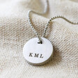 Lisa Angel Men's Personalised Stainless Steel Disc Pendant Necklace