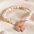 Lisa Angel Ladies' Personalised Double Charm Pearl Bracelet