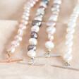 Lisa Angel Personalised Double Charm Pearl Bracelet