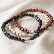 Lisa Angel Men's Personalised Handmade Men's Initial Bracelet