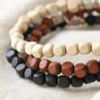 Lisa Angel Men's Handmade Cube Bead Name Bracelet Colours