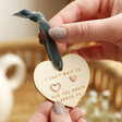 Lisa Angel Ladies' Mismatched Heart Stud Earrings on Personalised Wooden Heart