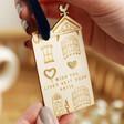 Lisa Angel Special Heart Stud Earrings on Personalised Wooden House
