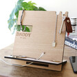 Personalised Message Wooden Accessory Stand