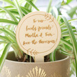 Lisa Angel Personalised Engraved Wooden Plant Sign