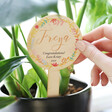 Lisa Angel Colourful Personalised Floral Wooden Plant Sign