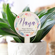Lisa Angel Floral Personalised 'Nana' Wooden Plant Sign