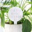 Lisa Angel Hand-Painted Personalised Rainbow Acrylic Plant Sign