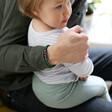 Model Wearing Men's Personalised Semi-Precious Stone Initial Bracelet From Lisa Angel