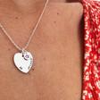 Model Wearing Lisa Angel Ladies' Personalised Birthday Heart and Birthstone Necklace