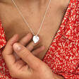 Model Wearing Lisa Angel Personalised 30th Birthday Heart and Birthstone Necklace