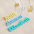 Lisa Angel Personalised Handmade Acrylic Name Necklace Colour Options