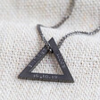 Lisa Angel Stamped Handmade Men's Personalised Double Triangle Charm Necklace