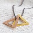 Lisa Angel Stylish Lisa Angel Handmade Men's Personalised Double Triangle Charm Necklace