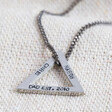 Lisa Angel Hand-Stamped Handmade Men's Personalised Double Triangle Charm Necklace