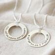 Lisa Angel Handmade Men's Personalised Sterling Silver Flat Disc Necklace