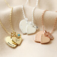 Lisa Angel Ladies' Personalised 50th Birthday Double Heart and Birthstone Necklace