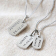 Lisa Angel Men's Personalised Hand-Stamped Stainless Steel Dog Tag Necklace