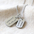 Lisa Angel Personalised Hand-Stamped Stainless Steel Dog Tag Necklace