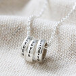 Personalised Sterling Silver Disc Bead Necklace Made By Lisa Angel