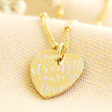 Lisa Angel Gold Sterling Silver Quote Heart Charm Necklace