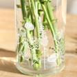 Personalised Wildflower Cylinder Glass Vase