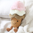 Lisa Angel with Cuddly Jellycat Amuseable Ice Cream Soft Toy