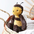 Lisa Angel with Cuddly Jellycat Bashful Bee Soft Toy
