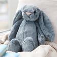 Lisa Angel with Jellycat Bashful Dusky Blue Bunny Soft Toy