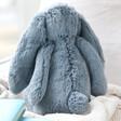 Lisa Angel with Medium Size Jellycat Bashful Dusky Blue Bunny Soft Toy