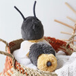Lisa Angel with Cuddly Jellycat Berta Bee Soft Toy
