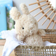 Lisa Angel with Jellycat Little Bunny Soft Toy