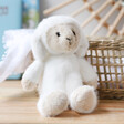 Lisa Angel with Fluffy Jellycat Small Toppity Lamb Soft Toy