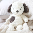 Lisa Angel with Cuddly Jellycat Squishu Puppy Soft Toy