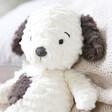 Lisa Angel with Children's Jellycat Squishu Puppy Soft Toy