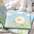 Lisa Angel with Colourful Jellycat 'The Happy Egg' Book