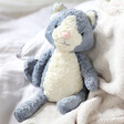 Lisa Angel with Cute Jellycat Tuffet Cat Soft Toy