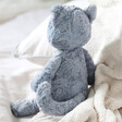 Lisa Angel with Jellycat Tuffet Cat Soft Toy
