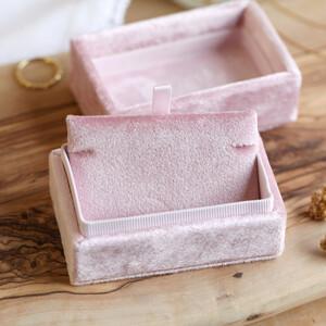 Blush Pink Velvet Bracelet Box