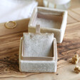 Inside of Lisa Angel Personalised Natural Velvet Necklace Box