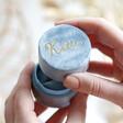 Lisa Angel Ladies' Personalised Blue Velvet Ring Box