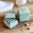 Lisa Angel Personalised Green Velvet Earrings Box