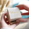 Lisa Angel Ladies' Personalised Natural Velvet Necklace Box